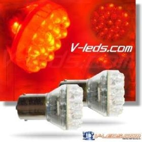 Show details of 2 RED 24 LED BRAKE/TURN LIGHT TAILLIGHT BULBS 1157 2057.