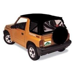 Show details of Rugged Ridge Fabric Replacement Tops Black Denim 1995-1998 Suzuki� Sidekick / Geo Tracker.