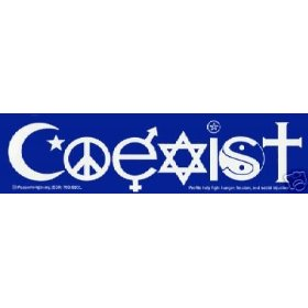 Show details of 2 COEXIST Bumper Stickers WONDERFUL MESSAGE!.