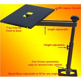 Show details of Notebook Laptop Mount Desk Auto Car Truck Stand Holder.