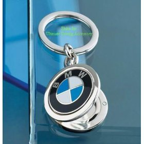 Show details of BMW Genuine Locket Key Chain.