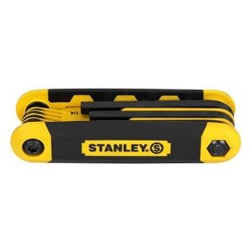 Show details of Stanley 90-391 SAE and Metric Folding Hex Key.