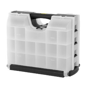 Show details of Stanley Consumer Storage 14166 Double Sided Organizer Black and Clear.