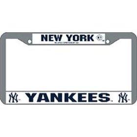 Show details of New York Yankees MLB Chrome License Plate Frame.