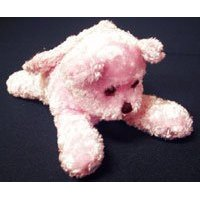 Show details of TIDDY BEAR SEAT BELT COMFORT BEAR IN PINK OR GOLD.