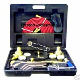 Show details of NEW OXY ACETYLENE WELDING CUTTING TORCH KIT FITS VICTOR.
