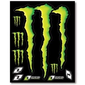 Show details of One Industries Monster Energy Decal Sheet - --/--.
