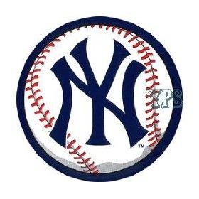 Show details of New York Yankees Round Vinyl Decal Sticker.