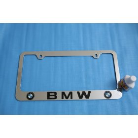 Show details of BMW Logo License Plate Frame Chrome New.