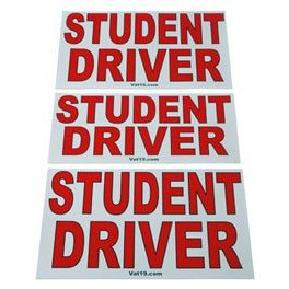 Show details of Magnetic Student Driver Signs, 3-pack.