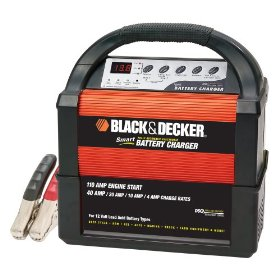 Show details of Black & Decker VEC1093DBD Smart Battery 40/20/10/4 Amp Battery Charger.