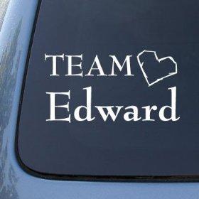 Show details of TEAM EDWARD - Twilight - Vinyl Car Decal Sticker #1473 | Vinyl Color: White.