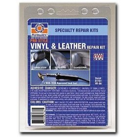Show details of Permatex 81781 Pro Style Vinyl and Leather Repair Kit.
