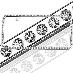 Show details of Swarovski 125 Series License Plate Frame - Ice.