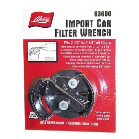 Show details of Lisle 63600 Import Car Filter Wrench.