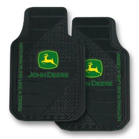 Show details of John Deere Factory Style Logo Trim-To-Fit Molded Passenger/Driver Front Floor Mats - Set of 2.