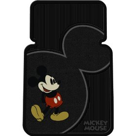 Show details of Plasticolor 001372R01 Vintage Mickey Mouse Universal-Fit Molded Front Floor Mats - Set of 2.