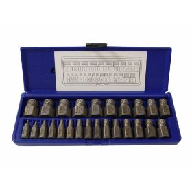 Show details of Irwin Industrial Tool 53227 25-Piece Hex Head Multi-Spline Extractor Set.
