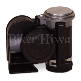 Show details of Black Stebel Nautilus Compact Motorcycle Air Horn - Loud.