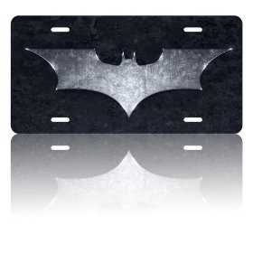 Show details of Batman The Dark Knight Logo License Plate.