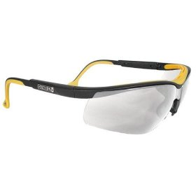Show details of Dewalt DPG55-11C Clear Anti-Fog Protective Safety Glasses with Dual-Injected Rubber Frame and Temples.