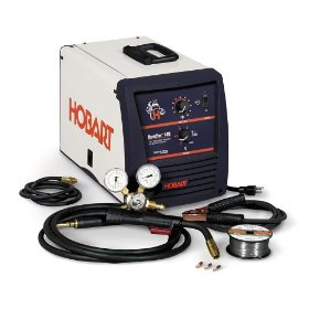 Show details of Hobart 500500 Handler 140 115-Volt 25-to-140 Amp Gas/Metal/Arc Single-Phase Wire Welding Package.