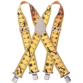 Show details of Custom LeatherCraft 110RUL Heavy Duty Tape Rule Elastic Suspenders.