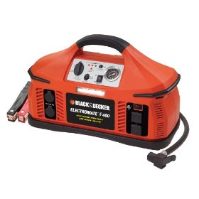 Show details of Black & Decker VEC026BD Electromate 400 Jump-Starter with Built-In Air Compressor.