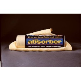 "Show details of The Absorber Synthetic Drying Chamois, Travel Size, 17"" x 13""."