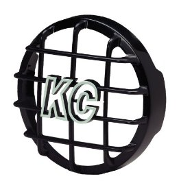 "Show details of KC HiLiTES 7210 Black ABS 6"" Stone Guard."
