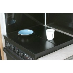 Show details of Camco 43554 Black RV Universal Fit Stove Top Cover.