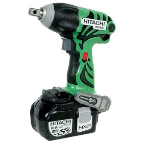 Show details of Hitachi WR18DL 18-volt Lithium-Ion Cordless Impact Wrench.