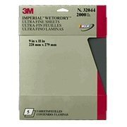 Show details of 3M Imperial Wetordry Sheet, 9 in x 11 in, Grade 2000, Pack of 5 Sheets.
