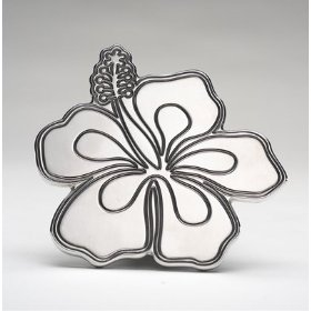 Show details of Hula Hawaiian Hibiscus Flower Billet Hitch Plug Receiver Cover.