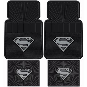 Show details of Superman DC Comics Silver Flake - 4 Pc Floor Mats Set.