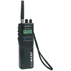 Show details of Cobra HH 38 WX ST Handheld CB Radio.