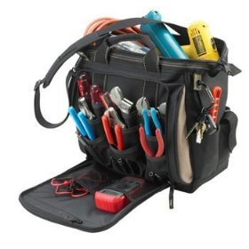 Show details of Custom LeatherCraft 1537 13 Multi-Compartment Tool Carrier.