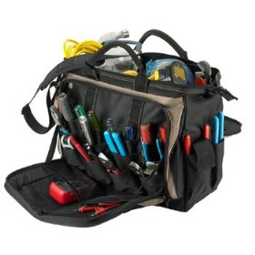 Show details of Custom LeatherCraft 1539 18 Multi-Compartment Tool Carrier.