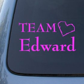Show details of TEAM EDWARD - Twilight - Vinyl Car Decal Sticker #1473 | Vinyl Color: Pink.