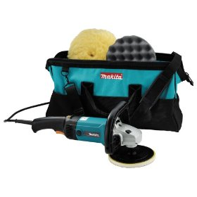 Show details of Makita 9227CX3 7-inch Electronic Sander-Polisher with Polishing Kit.