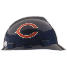 Show details of MSA Safety Works 818420 NFL Hard Hat, Chicago Bears.