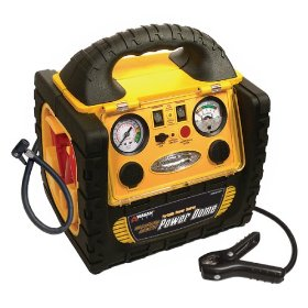 Show details of Wagan 400-Watt Power Dome Jumpstarter with Built-In Air Compressor and LED Utility Light.