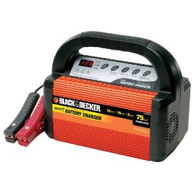 Show details of Black & Decker VEC1095ABD Smart Battery 25/10/2 Amp Battery Charger.
