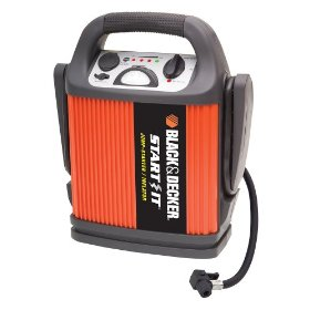 Show details of Black & Decker START IT VEC012CBD 450 Amp Jump Starter/Inflator.