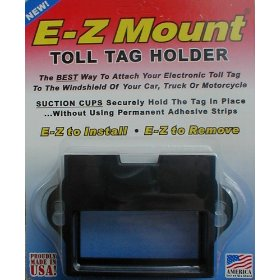 Show details of Toll Tag Holder, EZ Pass, I-Pass, C-Pass, Palmetto, Smart Tag, Fast Lane - 4 Colors - Free S/H.