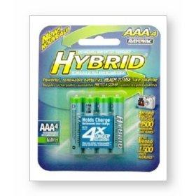 Show details of Rayovac Hybrid - Battery 4 x AAA NiMH.