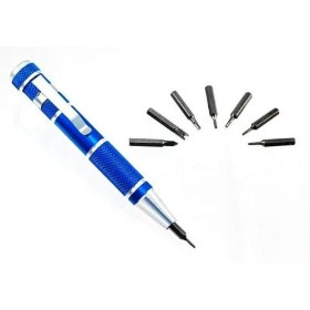 Show details of Premium-Grade Pocket Precision Screwdriver - 9 Self-Storing Bits.