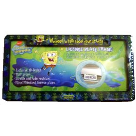 Show details of Spongebob Squarepants Car Truck SUV License Plate Frame.