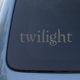 Show details of TWILIGHT LOGO - Edward Cullen Vinyl Decal Sticker #1655 | Vinyl Color: Silver.