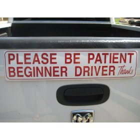 Show details of Reflective Student Driver Magnetic Car Sign.